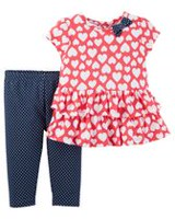 Child of Mine made by Carter's Newborn Girls' 2pc Clothing Set - Hearts 18 months