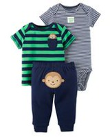 Child of Mine made by Carter's Newborn Boys' 3-piece Set -Monkey 6-9 months