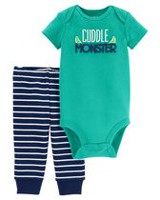 Child of Mine made by Carter's Infant Boys' Body Suit Pant Set-Monster 18M