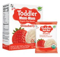 HOT-KID TODDLER MUM-MUM FRAISE BISCUITS DE RIZ BIOLOGIQUE