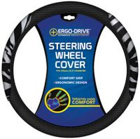 Who-Rae Ergodrive Memory Foam Steering Wheel Cover, Zebra