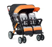 Foundations 4 Passenger Stroller Orange
