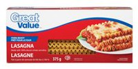 Great Value Oven-Ready Lasagna Pasta