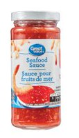 Sauce douce pour fruits de mer de Great Value