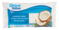 Great Value Sweetened Flaked Coconut
