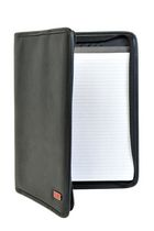 Champs Zippered Ring Padfolio Black