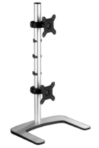 Visidec Freestanding Dual Vertical Monitor Mount