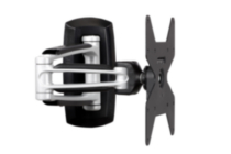 Telehook Full Motion TV Wall Mount - Silver with black