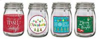 Holiday time Glass Canister