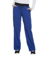 Scrubstar Women's Premium Collection Flex Stretch Rayon Drawstring Scrub Pant Blue S