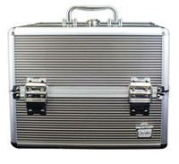 Caboodles 11.5 Inches Silver Goddess Cosmetic Train Case - 4 Tray