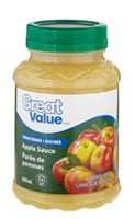 Great Value Regular Sweetened Apple Sauce