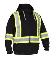 Force field Hi-Visibility Safety Detachable Hoodie L