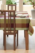 Home Trends Tablecloth, Cabernet Check 60in x 84in Burgundy