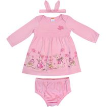Nickelodeon Peter Rabbit 3 Piece Infant Girl Dress Set 0-3 months