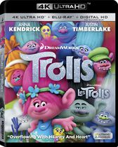 Trolls (4K Ultra HD + Blu-ray + Digital HD)(Bilingual)