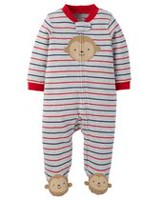 Child of Mine made by Carter's Newborn Boys' Monkey Sleep & Play Outfit Newborn
