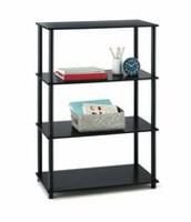 Mainstays 4 Shelf Storage Shelving Unit Black