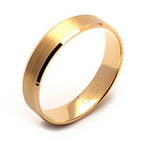 Jonc d'alliance en or jaune de 10 ct de Rex Rings pour hommes 8.5