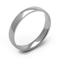 Rex Rings Men's 10 KT White Gold Wedding Band 10