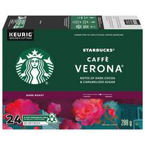 Starbucks® Caffè Verona® Café Moulu Torréfaction Foncée K-Cup® capsules 24 unités