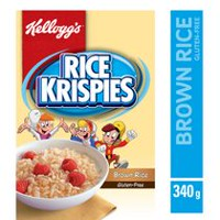 Kellogg's Rice Krispies Brown Rice Gluten Free Cereal, 340g