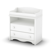 South Shore Heavenly Collection Changing Table, Pure White