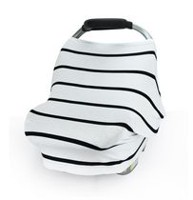 Carseat Canopy - Stretch Covers - Black Stripes