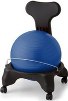 Gaiam Classic Balance Ball Chair - Blue (with DVD)