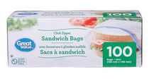 Great Value Zipper Seal Sandwich Bags