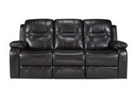 Napolean Dual Recliner Sofa, Brown