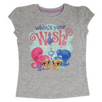 Shimmer and Shine Girls' Short Sleeve Tee Shirt 2T