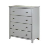 South Shore Cotton Candy 4-Drawer Chest Grey
