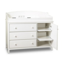 South Shore Cotton Candy Collection Changing Table White
