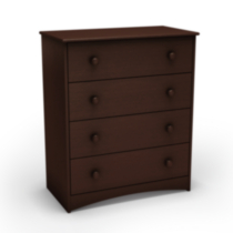 South Shore Angel Collection 4 Drawer Chest Espresso