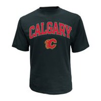 NHL Men's Calgary Flames Crew Neck Short Sleeve Classic Fit T-Shirt L