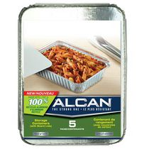 ALCAN 100% RECYCLED ALUMINUM STORAGE CONTAINER 5CT
