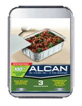 ALCAN 100% RECYCLED ALUMINUM DEEP STORAGE CONTAINER 3CT