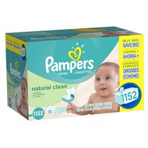 Pampers Baby Wipes Natural Clean 16X Pack