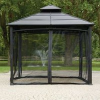 hometrends Mosquito Netting for 10 ft x 10 ft Gazebo