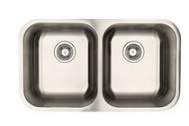 Eviers Asil Sinks North American 31-Inch Stainless Steel 18 Gauge Double Basin Kitchen Sink