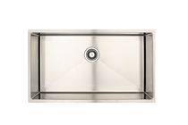 Eviers Asil Sinks Handmade 34-Inch Stainless Steel 18 Gauge Single Basin Kitchen Sink