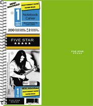 Five Star® Wirebound Premium Heavyweight Paper Notebooks, 1 subject, 11 x 8-½, 200 Page