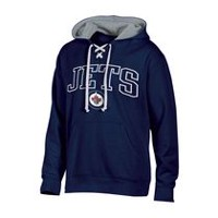 NHL Men's Winnipeg Jets Classic Fit Pullover Hoodie with Pockets L