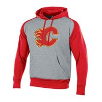 NHL Men's Calgary Flames Pullover Colourblock Hoodie S