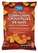 Great Value BBQ Flavour Corn Chips