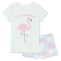 Pyjama 2 pièces avec t-shirt et short en peluche George pour filles