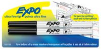 Expo Ultra Fine Dry Erase Black Markers