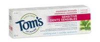 Tom's Of Maine Natural Maximum Strength Sensitive Fluoride Toothpaste Soothing Mint 82ml