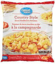 Great Value Country Style Diced Hashbrown Potatoes